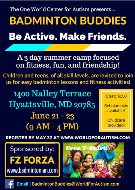 Badminton Buddies 3 Day Summer Camp in Hyattsville, MD